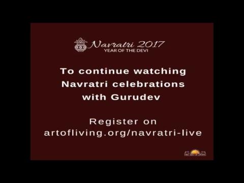 Glimpse of Navratri Celebrations (Day 5) with Gurudev Sri Sri Ravi Shankar