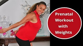 Prenatal Workout with Weights: First & Second Trimester