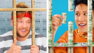 Rich Jail vs Broke Jail/ 17 Funny Situations