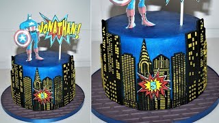 Cake decorating tutorials | Superhero cake | Sugarella Sweets