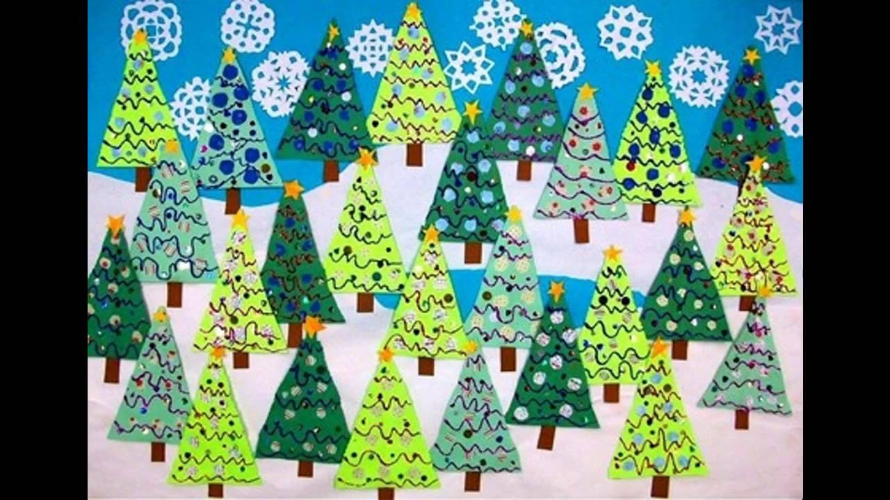 Ideas for winter classroom decorations youtube for Art and craft for classroom decoration