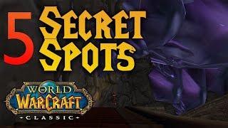 5 SECRET/HIDDEN locations in Classic WoW