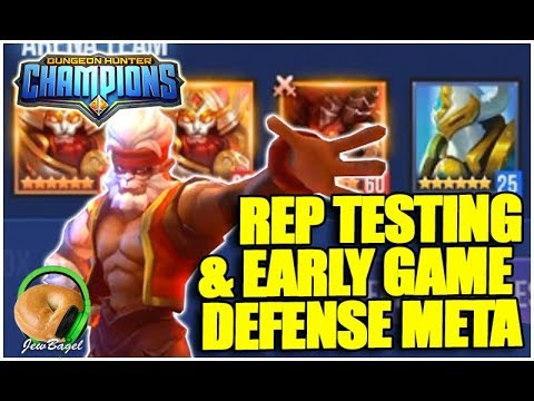 DUNGEON HUNTER CHAMPIONS: Arena Meta Analysis & Nat 5 Rep Testing!