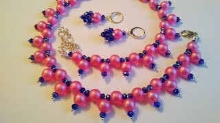 Tutorial: a set of jewelry. Колье и серьги. Мастер-класс