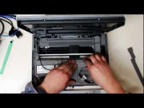 disassembling brother dcp-145c dcp-195c - YouTube