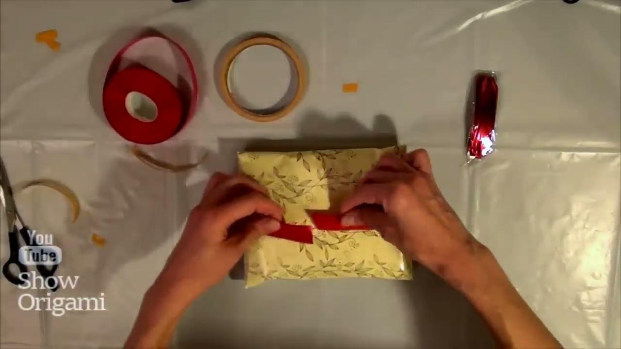 Как красиво упаковать подарок в подарочную бумагу без коробки