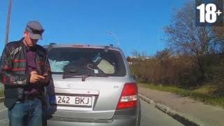 Подборка неадекватных быдло водителей