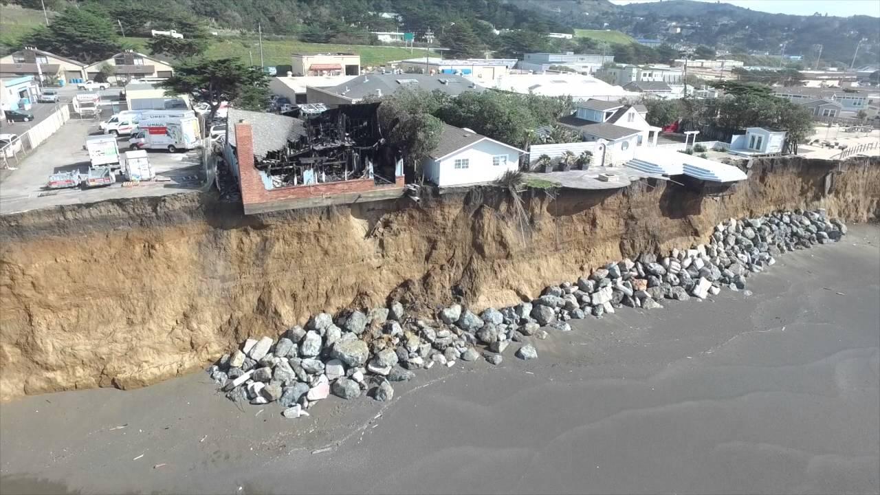 Coastal Erosion Pacifica Ca Youtube