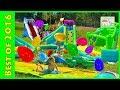 Huge Eggs Surprise Toys Challenge amp Golden Egg Hunt on Water Slide for Kids Compilation amp Frozen