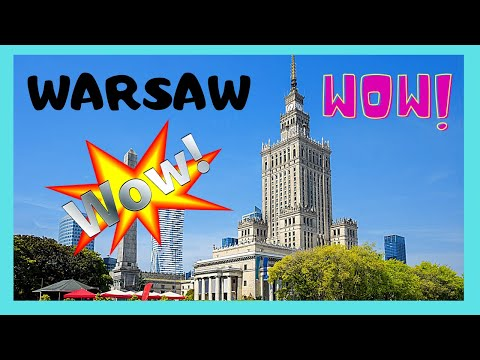 WARSAW, the Soviet era Palace of Culture and Science (POLAND)