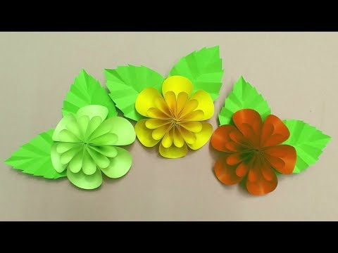 DIY how to make paper flower for decoration SIMPLE but BEAUTIFUL