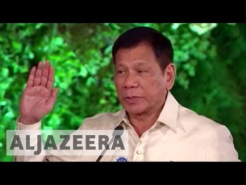 Philippines' President Duterte marks six months in office