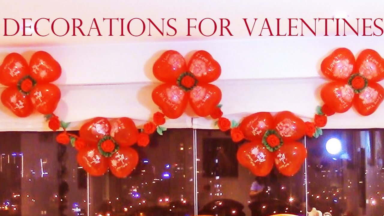 Como decorar con globos para fiestas best ideas for for Decoracion para pared san valentin
