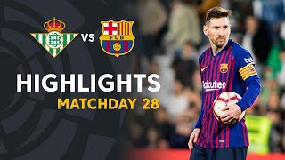 Xem lại trận Barcelona VS  Real Betis 4-1 2019 La Liga