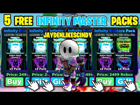 I WAS GIFTED 5 INFINITY-MASTER PACKS WORTH 12,500$ ROBUX IN NINJA LEGENDS ABSOLUTELY INSANE!