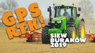 Siew buraka Grocholin 2019 na dużą skalę, GPS RTK, John Deere 6155m  | TAK TO ROBIĘ! vlog #03