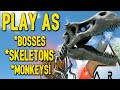 Ark Survival Evolved - Play As All Bosses, Skeletons & Creatures - (Ark Gameplay)