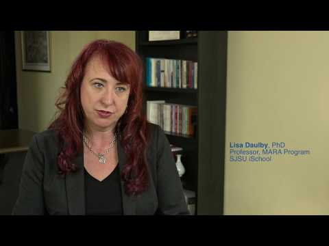 SJSU iSchool Masters Professor Lisa Daulby speaks about the MARA Program