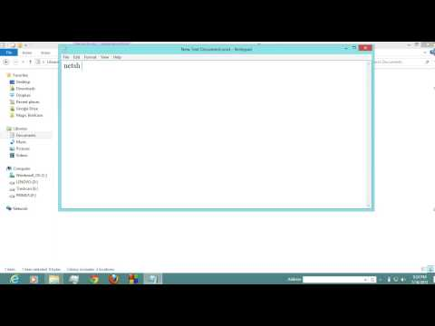 Windows 8 : Setting proxy network