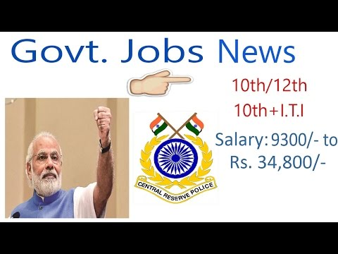 New Govt Jobs For 10th pass|10th+I.T.I |12th pass & Graduates |April 2017