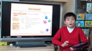 eBag Class Reflection Video by P.4C Norman Wong: How to Write an Invitation Card?