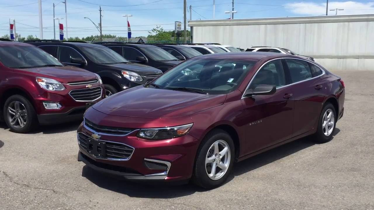 2016 Chevrolet Malibu 4dr Sdn Ls 1ls E Red Metallic Roy Nichols Courtice On