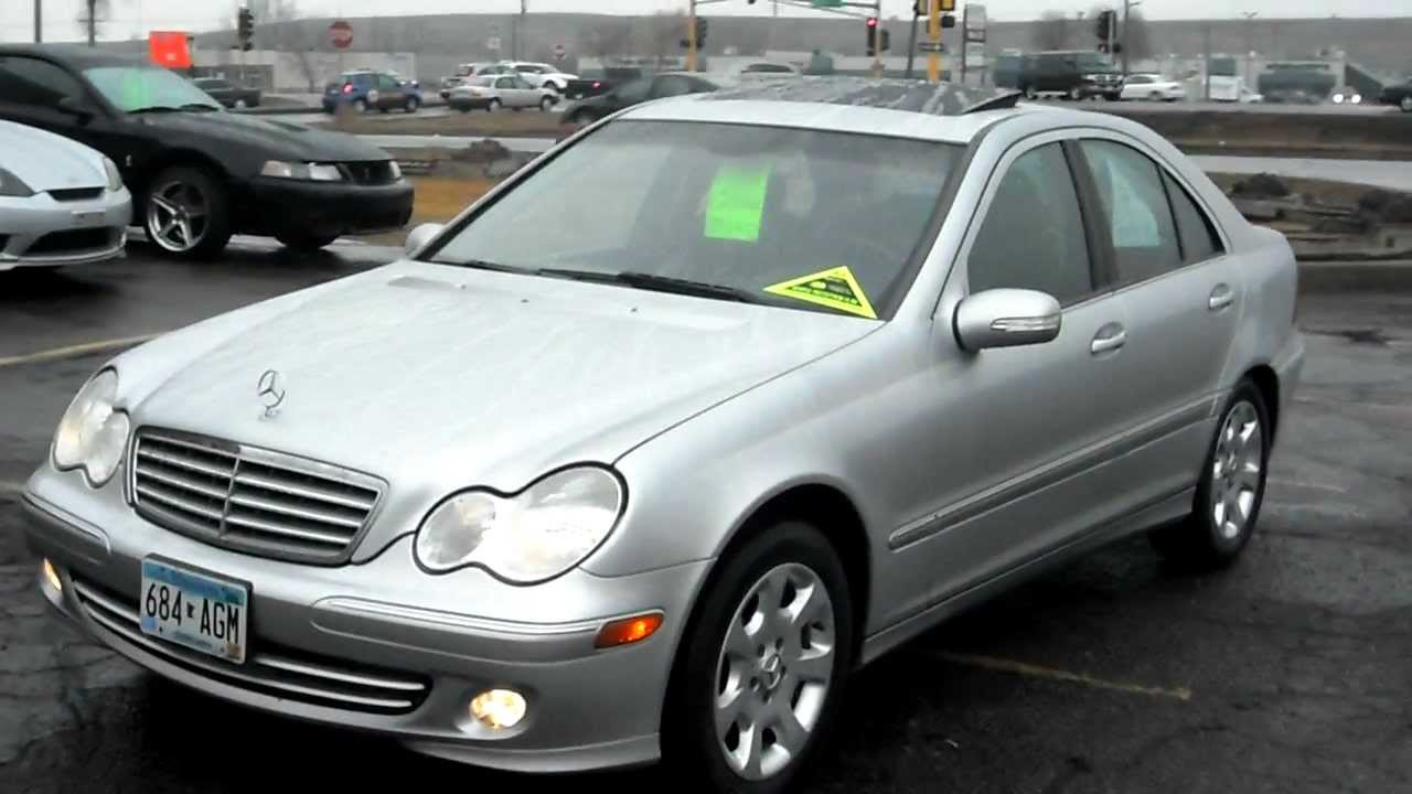 2005 mercedes benz c240 4 matic awd v6 nice warranty youtube. Black Bedroom Furniture Sets. Home Design Ideas