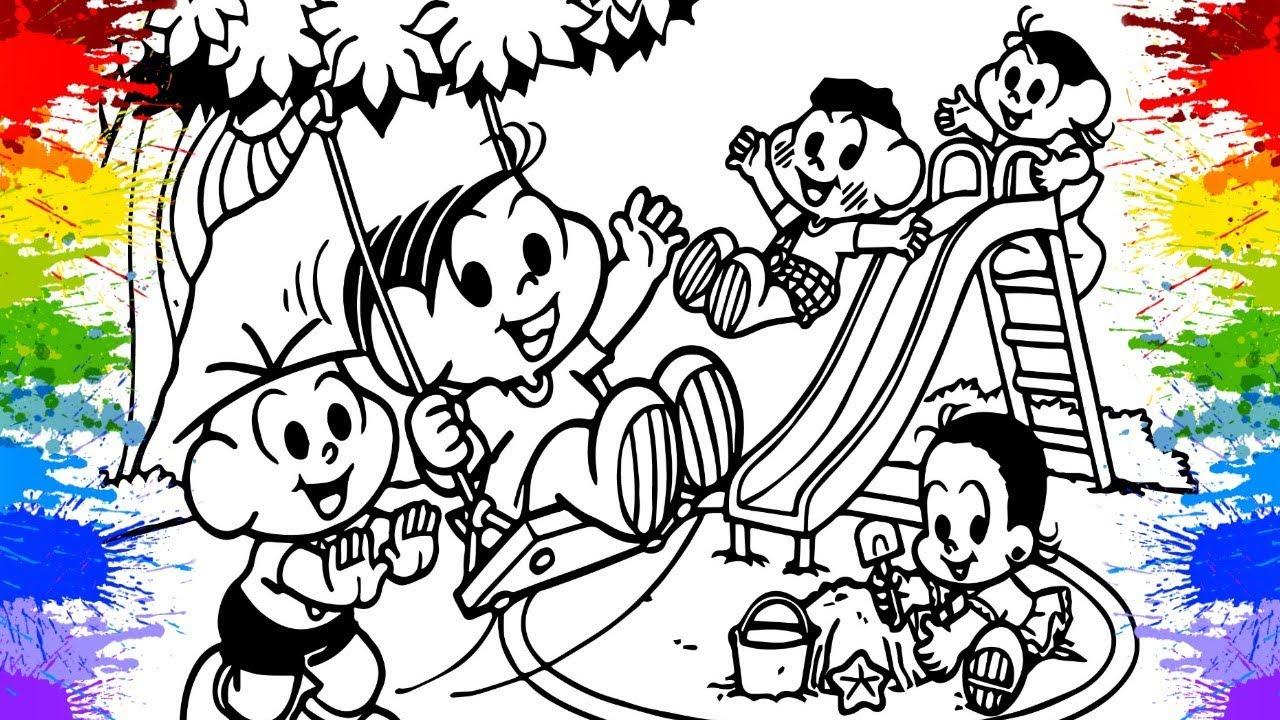 Desenho Da Turma Da Monica Monica Magali Cebolinha Criancas