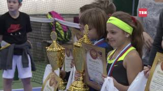 Турнир по теннису среди детей прошел сегодня в деревне Трусово
