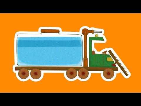 'Машинки', новый мультсериал для мальчиков - Поливальная машина (7 серия) Развивающий мультфильм - Видео онлайн