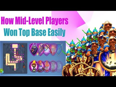 Royal Revolt 2 : HOW TO WON TOP BASE EASILY | For Low Level King Players