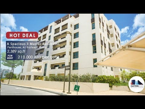 Hot Property 3 Master Bedrooms Penthouse For Rent in Al Bateen Park Abu Dhabi UAE