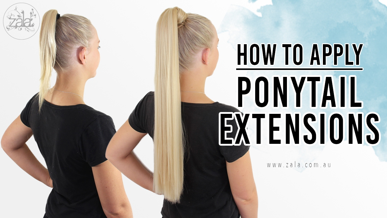 How To Apply Ponytail Extensions Youtube