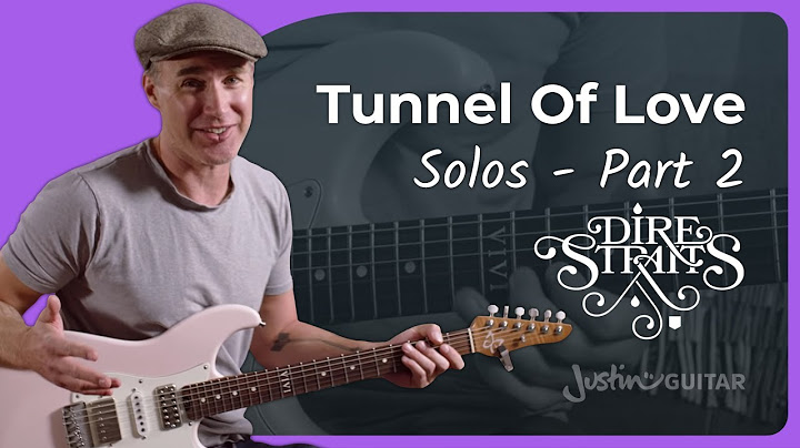 the incredible tunnel of love outro solo by mark knopfler p1 dire straits guitar lesson tutorial