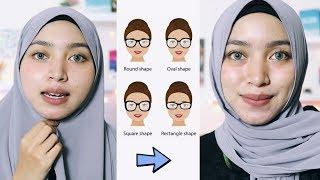Tips dan Tutorial Hijab Berdasarkan Bentuk Wajah Bulat Tembem Oval Kotak