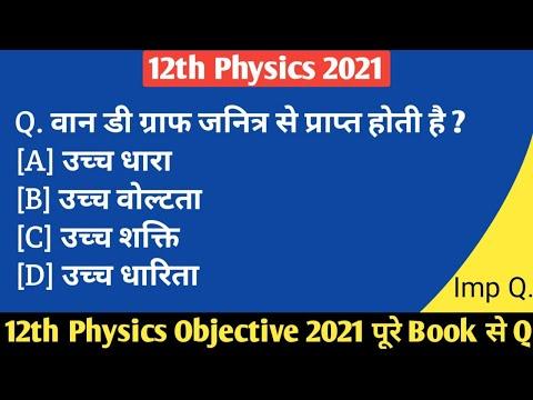 Physics Objective 2021    12th Physics Objective 2021    Education Galaxy   
