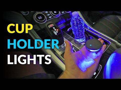 Solar Powered Car Cup Holder Lights