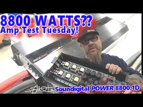 8800 WATTS? Amp Test Tuesday! - Soundigital POWER 8800 1D on the Dyno + Gut  Shot