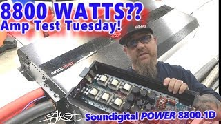 8800 WATTS? Amp Test Tuesday! - Soundigital POWER 8800.1D on the Dyno + Gut Shot
