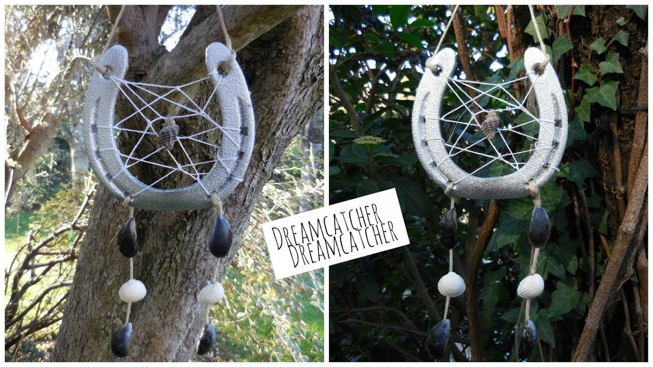 horseshoe dreamcatcher diy attrape r ves avec un fer cheval r cup 39 youtube. Black Bedroom Furniture Sets. Home Design Ideas