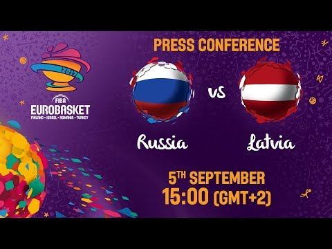 Russia v Latvia - Press Conference - FIBA EuroBasket 2017