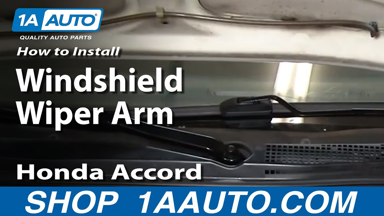 how to install replace broken windshield wiper arm honda accord 94