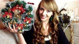 ★DIY★: Как сделать новогодний венок своими руками /украшение для дома к Новому Году