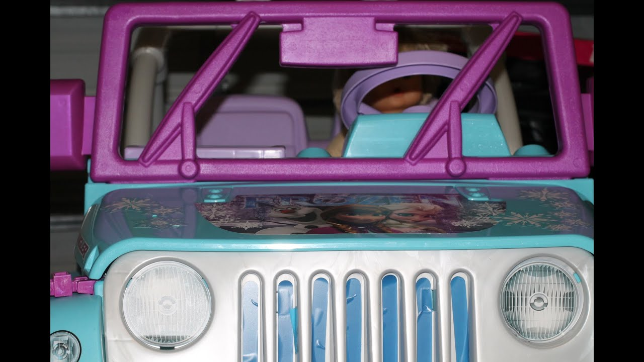 jeep wrangler disney frozen fisher price unboxing and build video new 2016 youtube. Black Bedroom Furniture Sets. Home Design Ideas