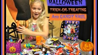 HALLOWEEN TRICK-OR-TREAT AND CANDY HAUL