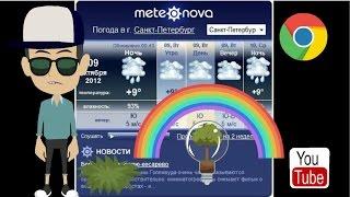 Погодный информер в гугл хром