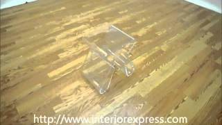 Interiorexpress Dolly Clear Acrylic Side Table With Magazine Rack