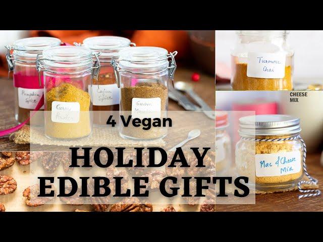 4 HOLIDAY DIY EDIBLE GIFT IDEAS | Vegan Food Gift Recipes | Vegan Richa