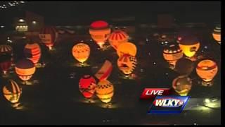 WLKY NewsChopper aerials: U.S. Bank Kentucky Derby Festival Great Balloon Glow