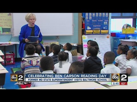 Ben Carson reading day at Govans Elementary School